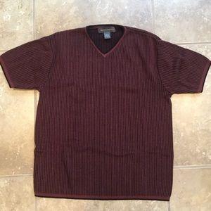 Burgundy Short Sleeve Sweater