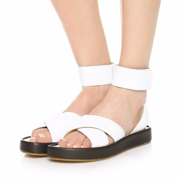 b08073937 ... Leather Ankle Cuff Sandals NEW. M 59e4165f9c6fcf25a609f266