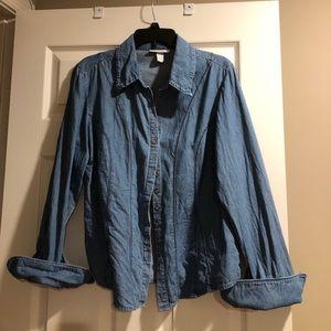 Dressbarn denim shirt