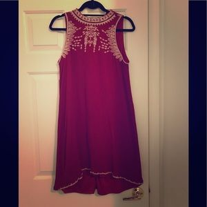 Red alya dress