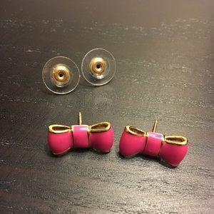 Kate Spade pink bow earrings