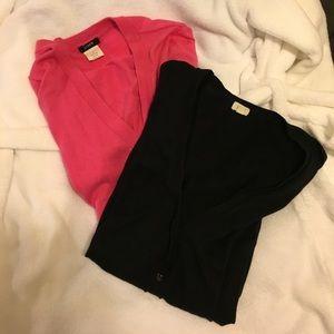 J. Crew shirt sleeve cardigan bundle