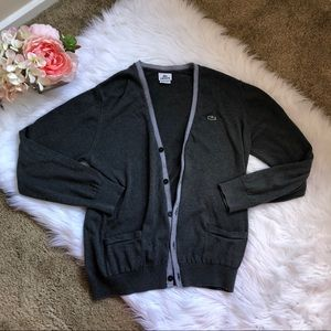 Lacoste gray Cardigan size 5
