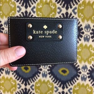 Kate Spade Leather Wallet - Black and Tan