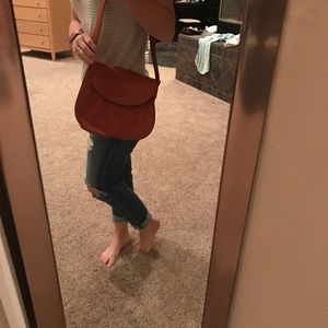 Madewell orange leather cross body