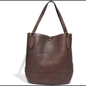 Madewell Essex Leather Tote Dark Brown