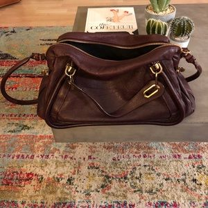 Chloe Brown Grained Crossbody Bag