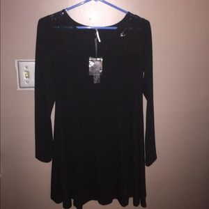 Little Black Dress by Poof long sleeve Sz S NEW