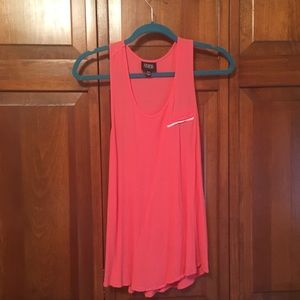Coral textured tank top