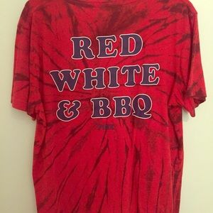 Red white and BBQ Campus t-shirt