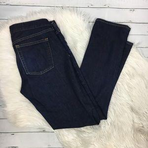 J. crew matchstick dark wash straight leg jeans