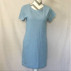 Merona Blue & White Striped Dress