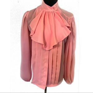 Vintage peach blouse top