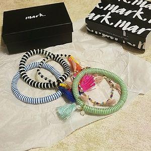 Mark bracelet set, 5 bracelets set