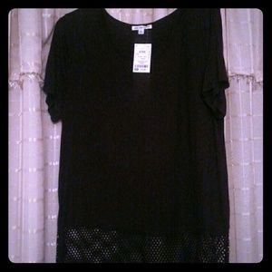 NWT Crop Top with Mesh