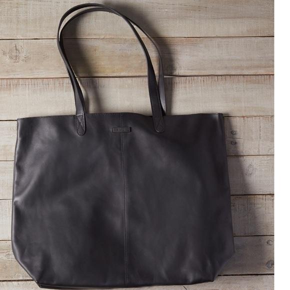 b52ce0701ce TOMS Matte Black Leather Cosmopolitan Tote. M_59e41f71bf6df52d870a2f1a