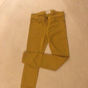 Current/Elliott skinny ankle jeans in Mustard, 28