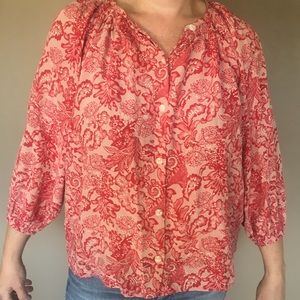 Tucker silk blouse