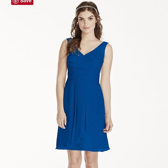 03196300f41 Illusion Tank Dress with Short Cascade Skirt. NWT. David s Bridal