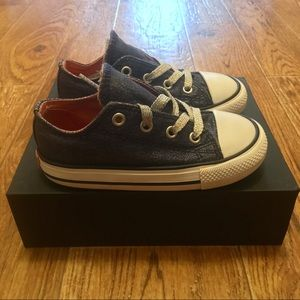 [Converse] All Star Navy Glitter (gently used)