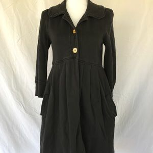 Juicy Couture black tunic style coat jacket size S