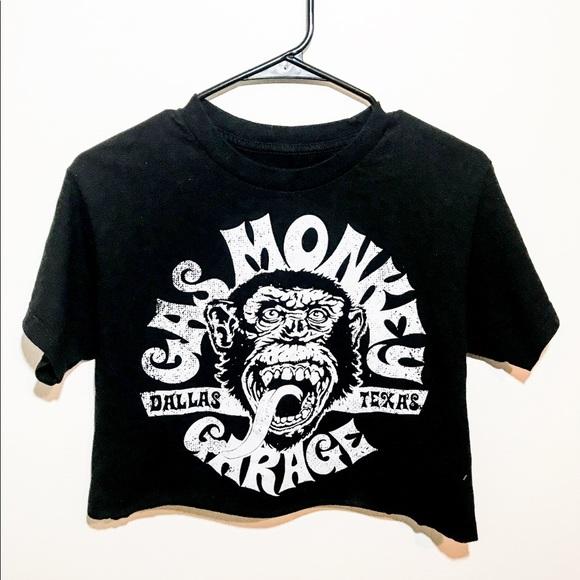 6467fe61d8f916 Hot Topic Tops - Gas Monkey Rocker Crop Top