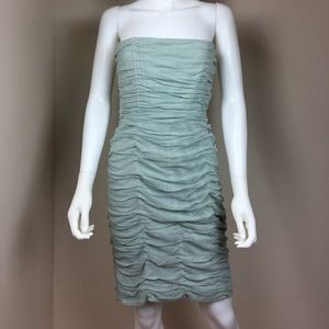 Alice+Olivia ruched corset strapless dress size 10