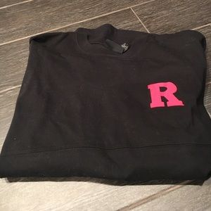 Black embroidered Rutgers spirit jersey
