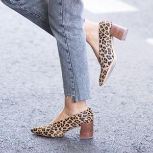 Zara Leopard heel