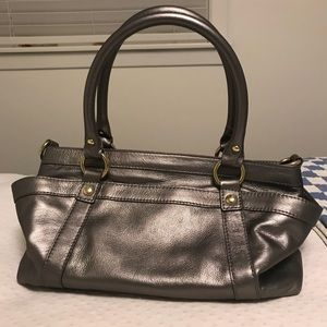 Jcrew Small metallic Georgie satchel