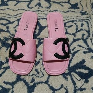 Channel Sandals Size 8
