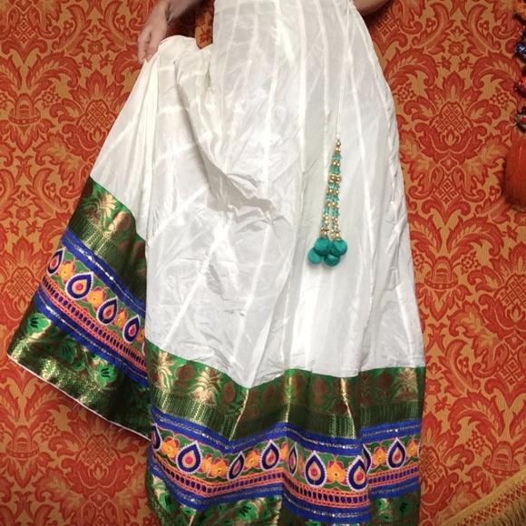 Vintage Dresses & Skirts - 💫Golden Indian Gypsy Dancer Maxi Skirt Bohemian