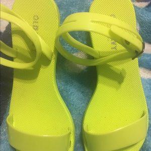 Neon green oldnavy jellies sandals