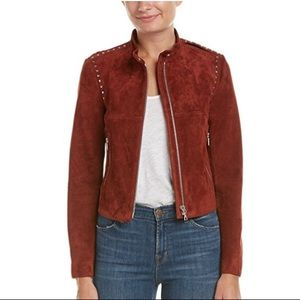 NWT Theory Suede Bavewick Jacket in Chili