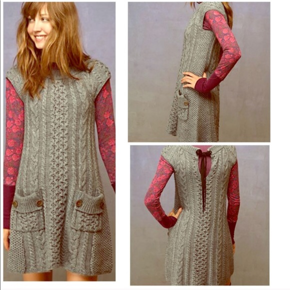 View Free People Cable Knit Sweater Dress JPG