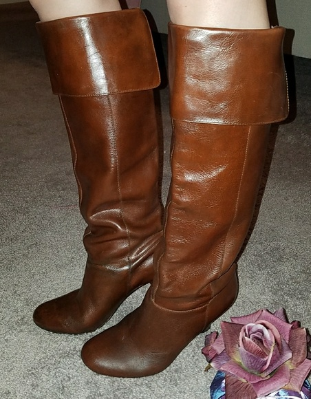Steve Madden Brown Leather Knee high Boots