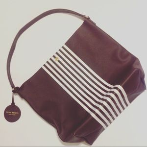 Henri Bendel Limited Edition Striped Hobo Bag