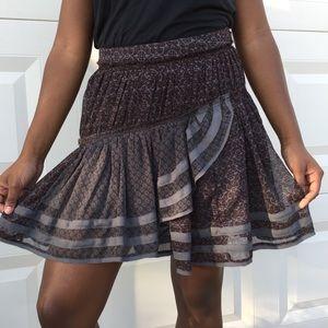 Fun, Flirty, Free People Asymmetrical Skirt Size 4