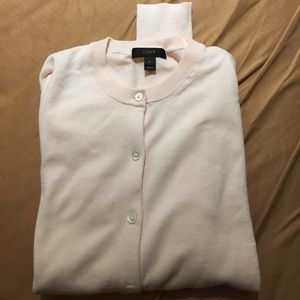 JCrew button down pale pink sweater SZM