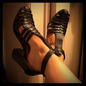 Zara huarache style booties