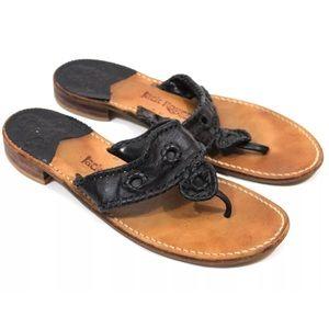 Jack Rogers Black 10M Navajo Sandals Flats
