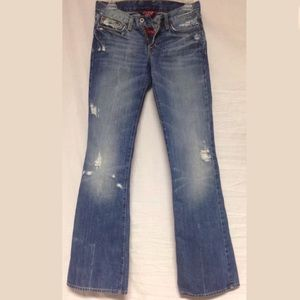 Lucky Brand Destroyed Boot Cut Jeans 0/25 BNC