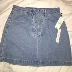 Kendall & Kylie Denim Lace Up Skirt