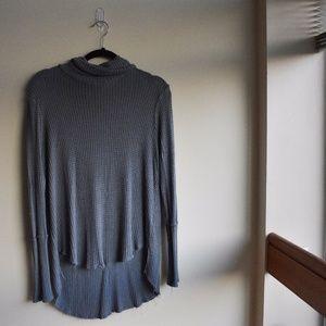 Grey knit turtle neck sweater