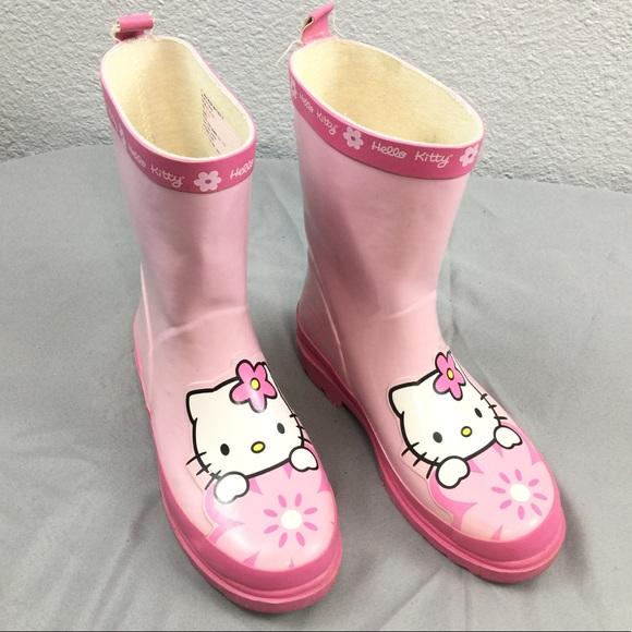 116d131e2 ... Hello Kitty girls pink rain boots GUC. M_59e430599c6fcfe7710aaf14
