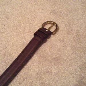 Coach Dark Teak belt w/dustbag