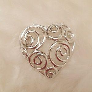 Jewelry - Silver scroll pin