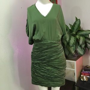 CATHERINE MALANDRINO SZ S OR 4 GREEN DRESS MINI