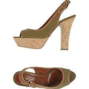 Sergio Rossi Platform Heel Peep toe Shoes