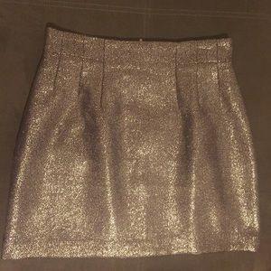 Metallic Mink Skirt